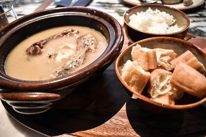 The Warehouse Hotel Singapore Breakfast Po Signature Bak Kut Teh with You Tiao and Rice