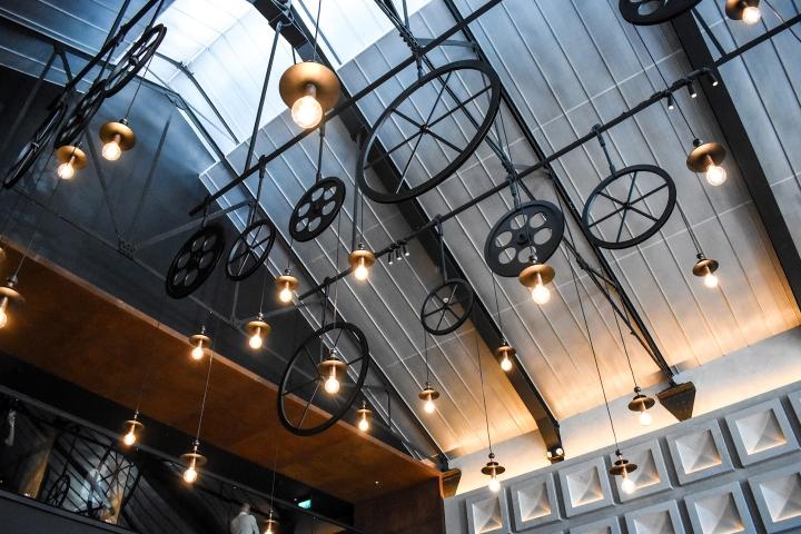 The Warehouse Hotel Singapore Main Reception Lobby Loft Ceiling