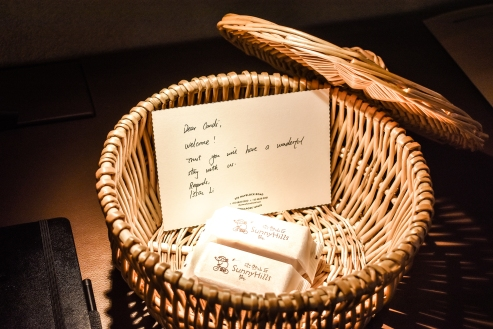 The Warehouse Hotel Singapore Welcome Gift in Room