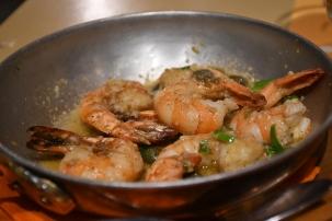 anogi restaurant santorini prawns