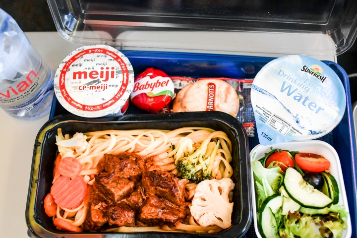 Scoot Singapore SG to Athens ATH Beef Pasta Meal On Board.jpg